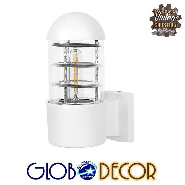 Μοντέρνο Φωτιστικό Τοίχου Απλίκα Μονόφωτο Λευκό Μεταλλικό GloboStar NEWI 01418