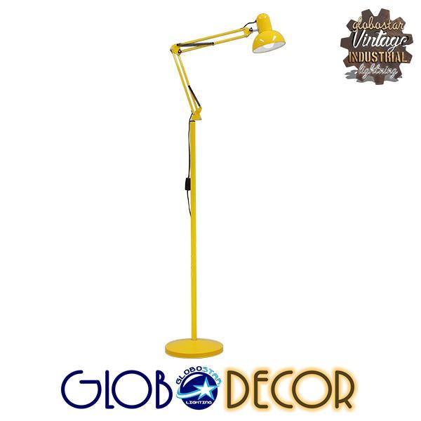 Μοντέρνο Φωτιστικό Δαπέδου Μονόφωτο Μεταλλικό Κίτρινο Φ15 GloboStar AUDREY YELLOW 01472